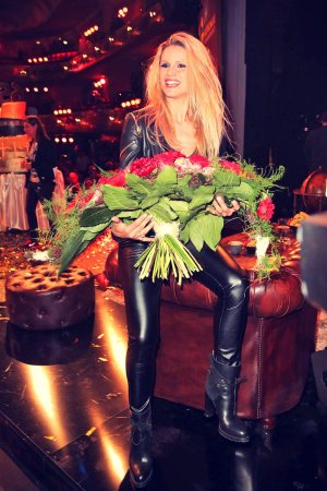 Michelle Hunziker attends Herbstblond-Gottschalks great Birthday Party