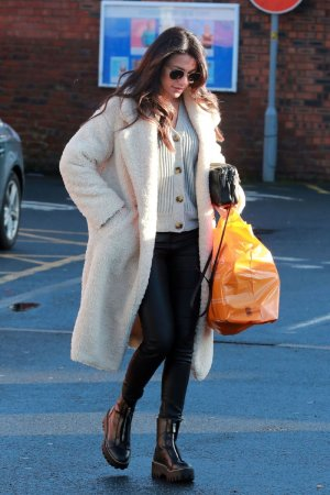 Michelle Keegan leaving Terrance Paul hairdressers
