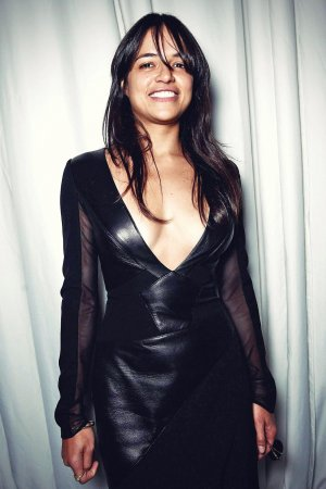 Michelle Rodriguez poses at the Gabriela Cadena Spring 2016 Fashion Show