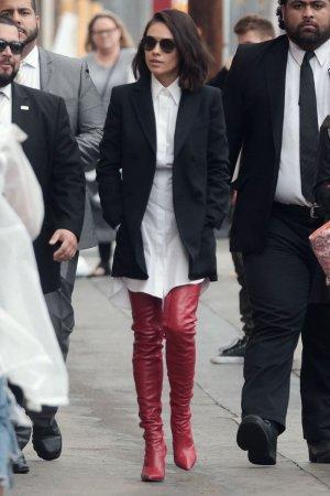 Mila Kunis at Jimmy Kimmel Live