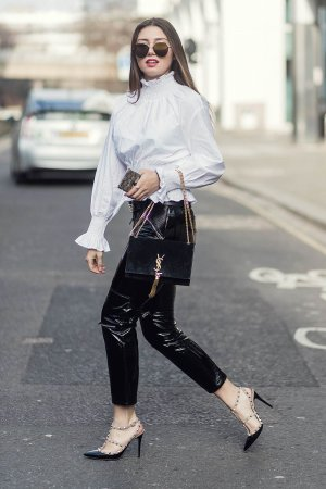Milena Karl street style in London