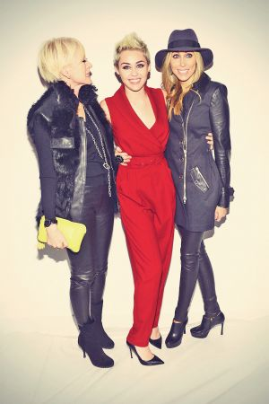 Miley Cyrus attends 2013 Rachel Zoe Fashion Show