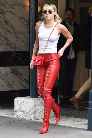 Miley Cyrus out in NYC