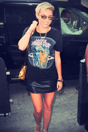 Miley Cyrus outside BBC Radio 1 Studios