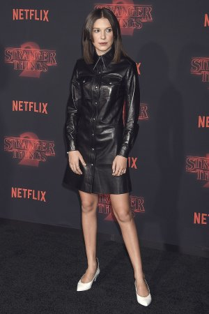 Millie Bobby Brown attends the Stranger Things 2 premiere