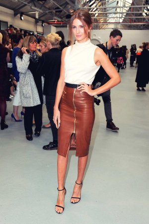 Millie Mackintosh arrives at the Xiao Li show