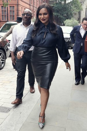 Mindy Kaling out in London