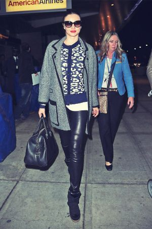 Miranda Kerr arrives at JFK airport