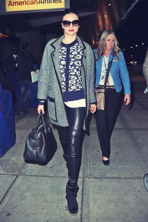 Miranda Kerr arrives at JFK airport