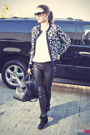 Miranda Kerr arrives at the airport in LA