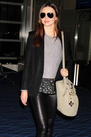 Miranda Kerr at Haneda Airport in Tokyo, Japan