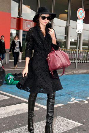 Miranda Kerr at Roissy Airport in Paris