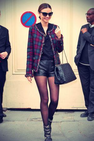 Miranda Kerr attends Channel SS14 Paris Fashion Week