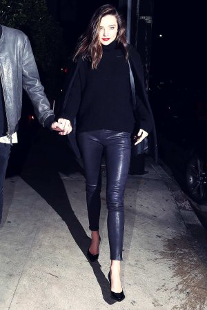 Miranda Kerr during a romantic evening in Beverly Hills