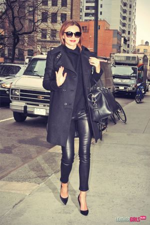 Miranda Kerr is a classic black beauty while out and about