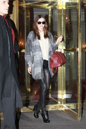 Miranda Kerr leaves Hotel Le Bristol Paris