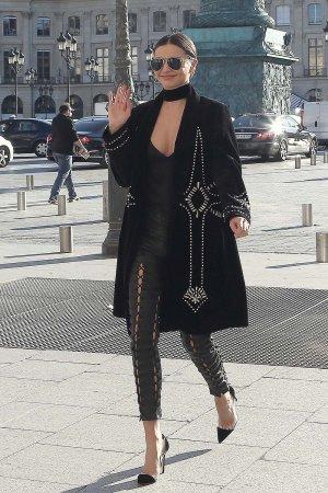 Miranda Kerr out in Paris