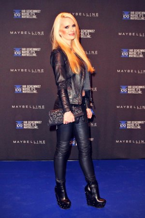 Mirja Du Mont attends the Maybelline celebration