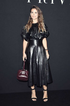 Miroslava Duma attends Paris Fashion Week Haute Couture F/W