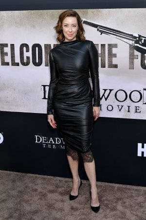 Molly Parker attends Deadwood film premiere