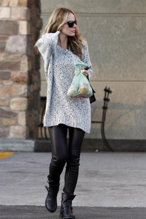 Monet Mazur out and about in Los Feliz