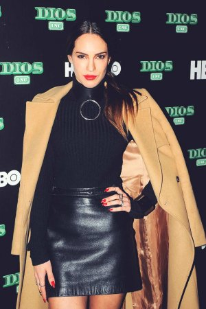 Muriel Ebright poses during the red carpet of the new HBO's tv series 'Dios Inc'