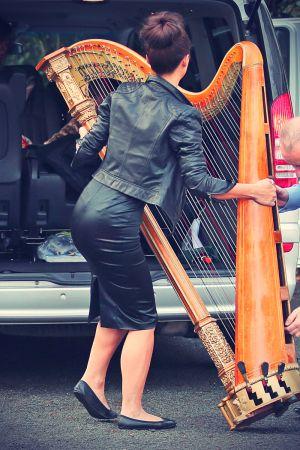 Myleene Klass and her harp