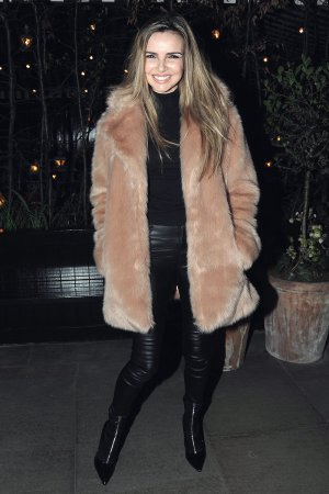 Nadine Coyle leaving the Chiltern FireHouse