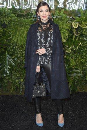 Nadine Warmuth attends Designer-Kollaboration ERDEM x H&M