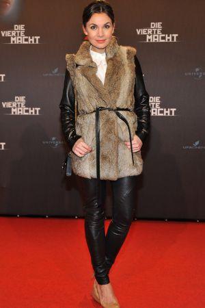Nadine Warmuth attends Die Vierte Macht World Premiere at the CineStar Sony Center in Berlin