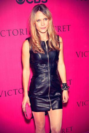 Nanna Oland Fabricius arrives at the 2010 Victoria's Secret Fashion Show
