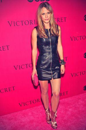 Nanna Oland Fabricius arrives for the 2010 Victoria's Secret Fashion Show