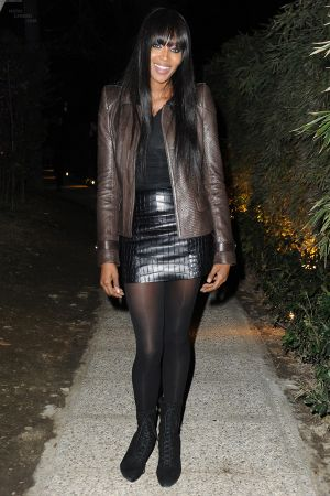 Naomi Campbell attends the Roberto Cavalli private dinner during Milan Womenswear Fashion Week
