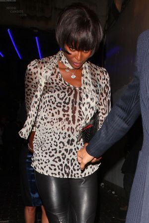 Naomi Campbell leaving the Box Club
