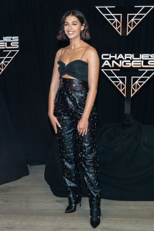 Naomi Scott attends Charlie's Angels film photocall