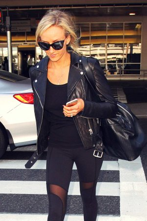 Nastia Liukin Pictured at Los Angeles International Airport