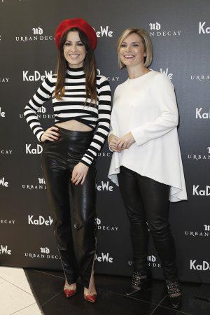 Natalia Avelon and Julie Gasperini attend the Urban Decay Re-Opening
