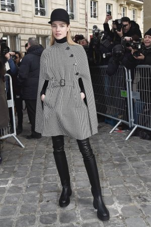 Natalia Vodianova is seen arriving at Dior Fashion show