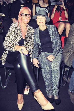 Natascha Ochsenknecht attends Mercedes-Benz Fashion Week
