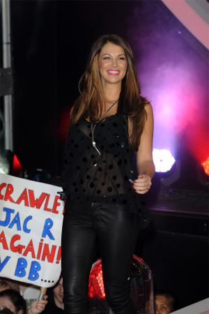 Natasha Giggs enters the Celebrity Big Brother House