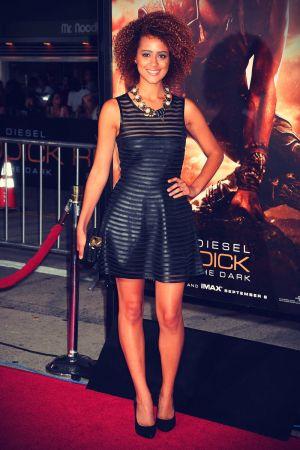 Nathalie Emmanuel attends Riddick Premiere