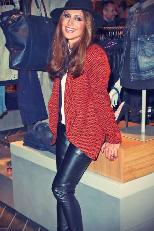 Nazan Eckes attends G-Star RAW Store Opening