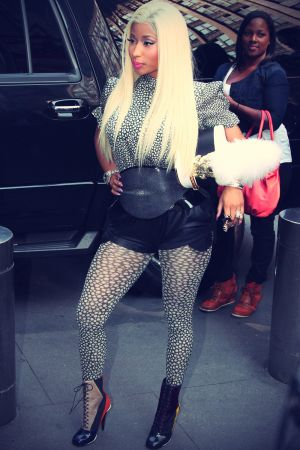 Nicki Minaj arrived for the taping of the New York auditions