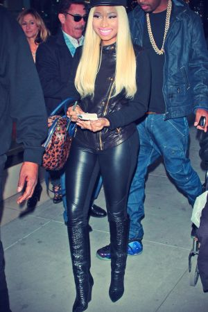 Nicki Minaj shopping in Beverly Hills