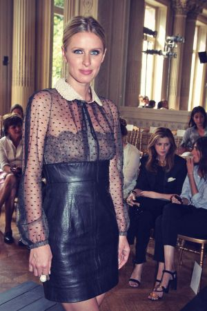 Nicky Hilton attends the Valentino Haute-Couture show