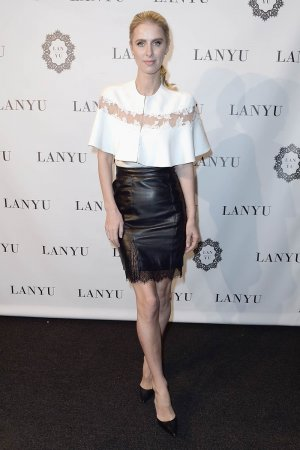Nicky Hilton Rothschild attends the Lanyu collection Front Row