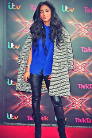Nicole Scherzinger arrives at Old Trafford for the Manchester auditions