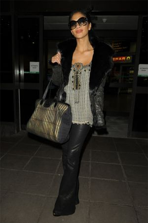 Nicole Scherzinger arrives in Manchester