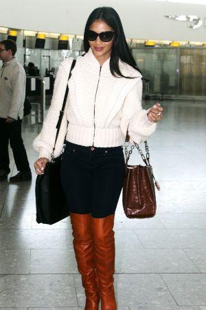Nicole Scherzinger at London Airport