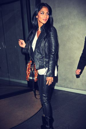 Nicole Scherzinger at their London hotel